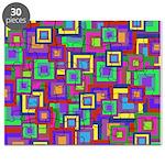Retro Rainbow Squares Pattern Puzzle