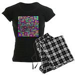 Retro Rainbow Squares Pattern Pajamas