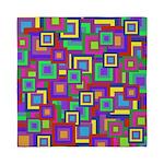 Retro Rainbow Squares Pattern Queen Duvet