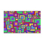 Retro Rainbow Squares Pattern Wall Decal