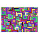 Retro Rainbow Squares Pattern Posters