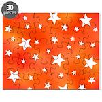 Orange and White Star Pattern Puzzle