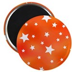 Orange White Star Pattern 2.25