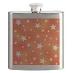 Orange and White Star Pattern Flask