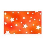 Orange and White Star Pattern Wall Decal