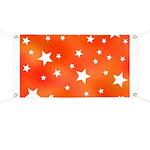 Orange and White Star Pattern Banner