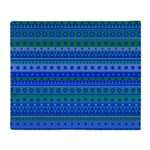Blue and Green Stripy Stars and Spots Pattern Sta