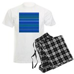 Blue and Green Stripy Stars and Spots Pattern Paja