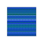 Blue and Green Stripy Stars and Spots Pattern Stic