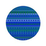 Blue and Green Stripy Stars and Spots Pattern 3.5