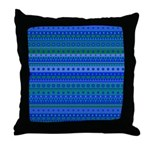 Blue and Green Stripy Stars and Spots Pattern Thro