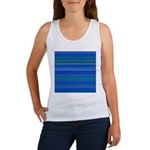 Blue and Green Stripy Stars and Spots Pattern Tank