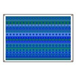 Blue and Green Stripy Stars and Spots Pattern Bann