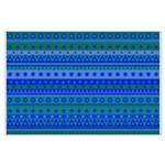 Blue and Green Stripy Stars and Spots Pattern Post