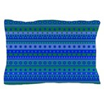 Blue and Green Stripy Stars and Spots Pattern Pill