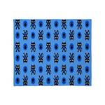 Kawaii Blue Cat and Paw Print Pattern Stadium Bla
