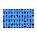 Kawaii Blue Cat and Paw Print Pattern 20x12 Wall D