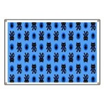 Kawaii Blue Cat and Paw Print Pattern Banner