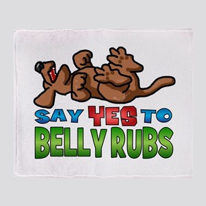 Belly Rub Throw Blanket