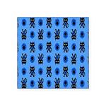 Kawaii Blue Cat and Paw Print Pattern Square Stick