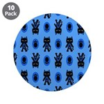 Kawaii Blue Cat and Paw Print Pattern 3.5