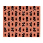Kawaii Orange Cat Paw Throw Blanket