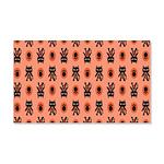 Kawaii Orange Cat Paw 20x12 Wall Decal