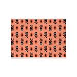 Kawaii Orange Cat Paw 5'x7'Area Rug