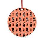 Kawaii Orange Cat Paw Ornament (Round)
