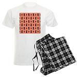 Kawaii Orange Cat Paw Men's Light Pajamas