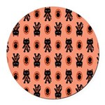 Kawaii Orange Cat Paw Round Car Magnet