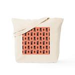 Kawaii Orange Cat Paw Tote Bag