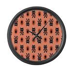 Kawaii Orange Cat Paw Large Wall Clock