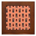 Kawaii Orange Cat Paw Framed Tile