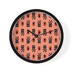Kawaii Orange Cat Paw Wall Clock