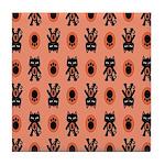 Kawaii Orange Cat Paw Tile Coaster