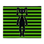 Goth Green and Black Bunny Throw Blanket