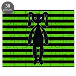 Goth Green and Black Bunny Puzzle