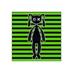 Goth Green and Black Bunny Sticker
