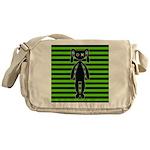 Goth Green and Black Bunny Messenger Bag
