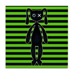 Goth Green and Black Bunny Tile Coaster