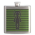 Goth Green and Black Bunny Flask