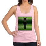 Goth Green and Black Bunny Racerback Tank Top