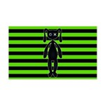 Goth Green and Black Bunny Wall Decal