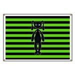 Goth Green and Black Bunny Banner