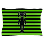 Goth Green and Black Bunny Pillow Case