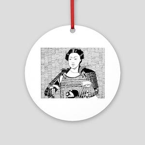 lady samurai Round Ornament