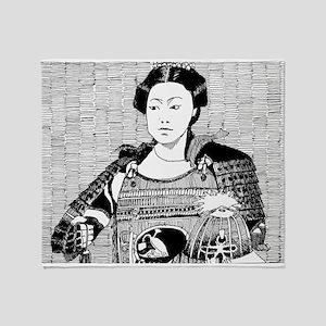 lady samurai Throw Blanket