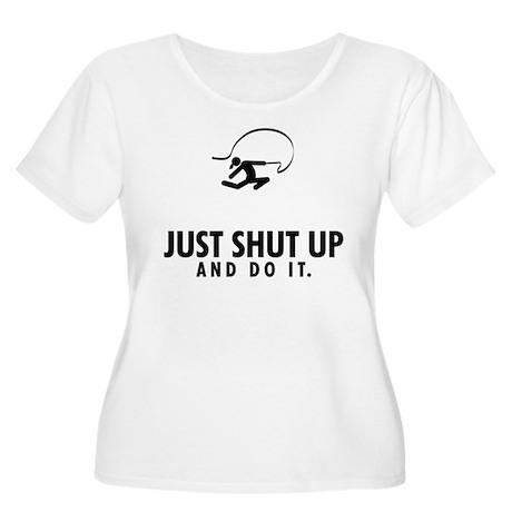 Rhythmic Gymnastic Women's Plus Size Scoop Neck T-