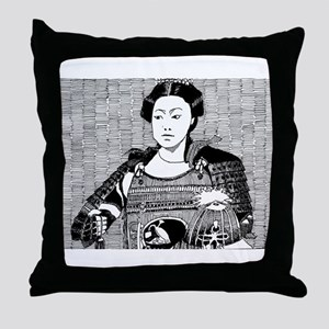 lady samurai Throw Pillow